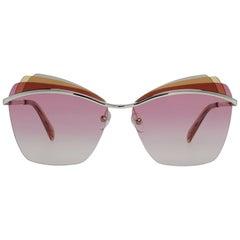 Emilio Pucci Mint Women Gold Sunglasses EP0113 6128T 61-13-142 mm
