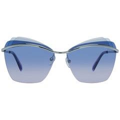 Emilio Pucci Mint Women Silver Sunglasses EP0113 6116W 61-13-142 mm
