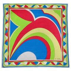 Emilio Pucci Multi-Colored Abstract Scarf
