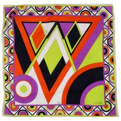 Emilio Pucci Multi-Colored Diamond Print Scarf