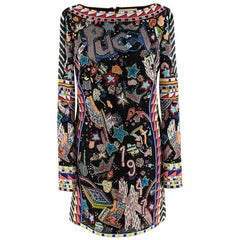 Emilio Pucci Multi-Coloured Beaded Mini Dress - Size US 6