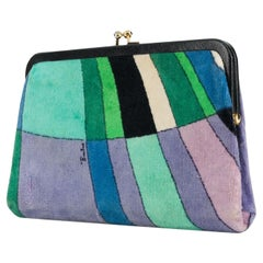 Emilio Pucci Multicolour Velvet Clutch Bag