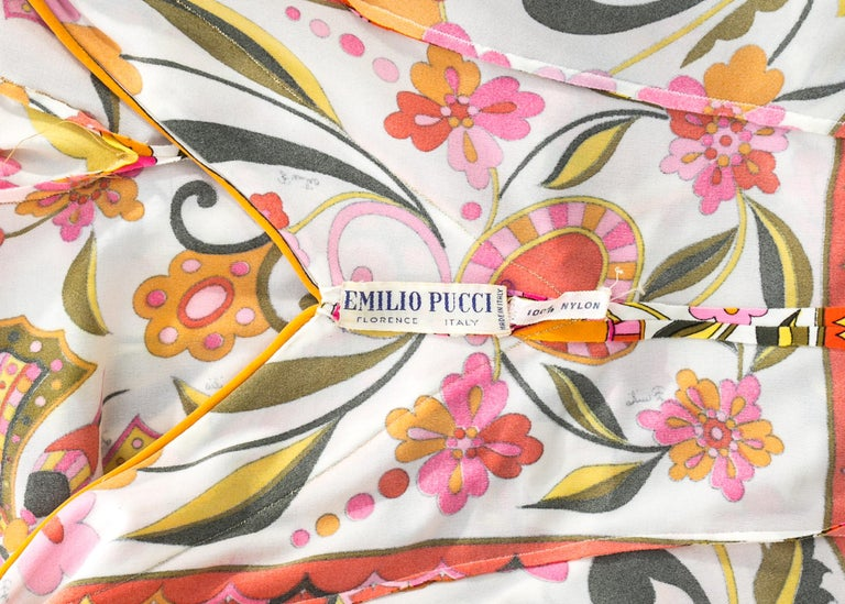 Emilio Pucci nylon floral printed body stocking, Spring-Summer 1966 For Sale 2