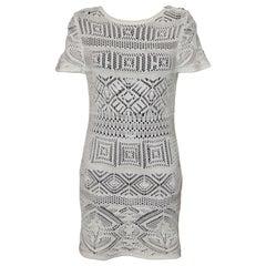 Emilio Pucci Off-white Crochet Knit Cotton Dress