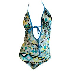 Emilio Pucci One Piece Swimsuit New with Tags Hard to Find Size 46
