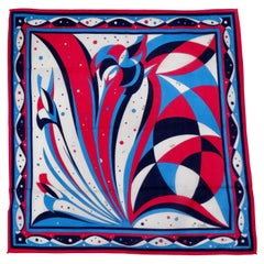 Emilio Pucci Pink & Blue Abstract Scarf