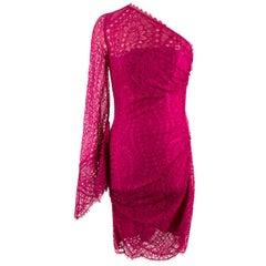 Emilio Pucci Pink Lace One-sleeve Dress IT: 40, UK: 8