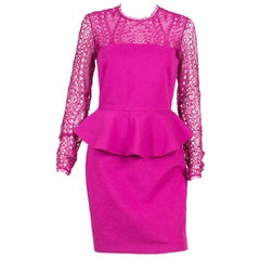 Emilio Pucci Pink Peplum Dress