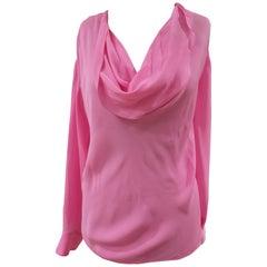 Emilio Pucci pink silk blouse