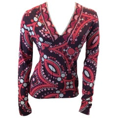 Emilio Pucci Print Long Sleeve Shirt