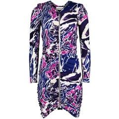 Emilio Pucci Purple & Pink Print Dress Sz 12