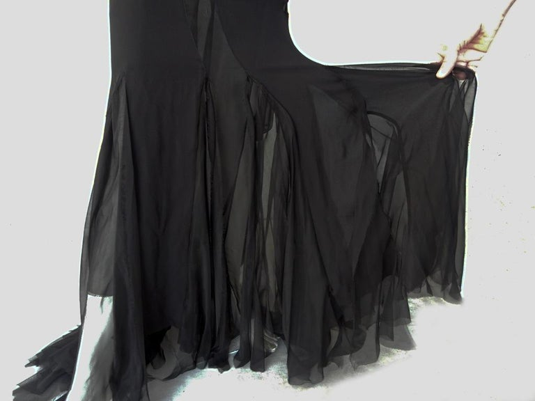 Emilio Pucci Seductive Sexy Sheer Black Dress Gown   NWT For Sale 2
