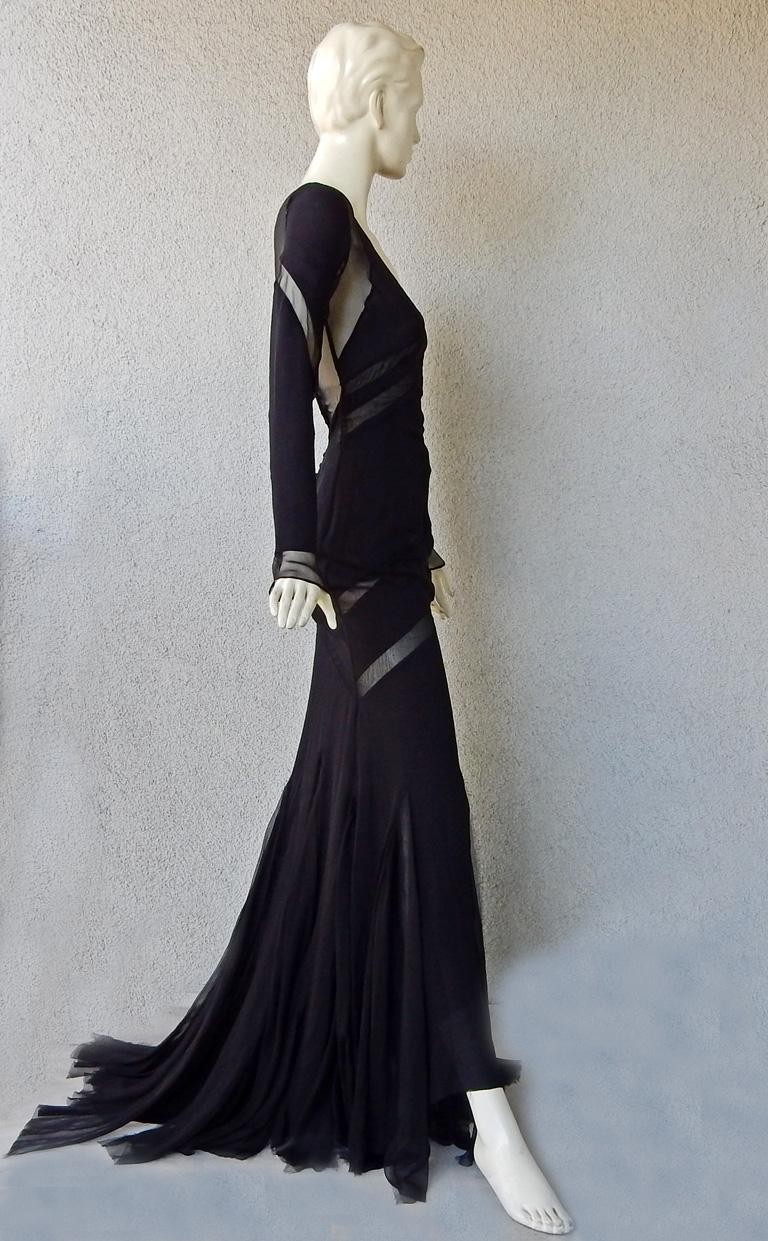 Emilio Pucci Seductive Sexy Sheer Black Dress Gown   NWT For Sale 3