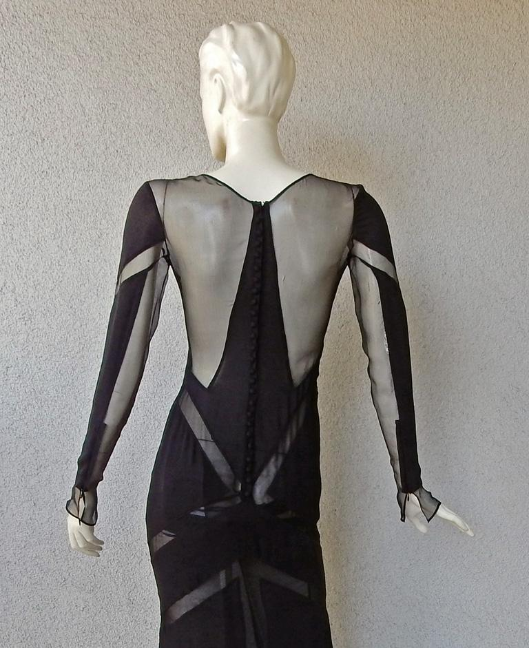 Emilio Pucci Seductive Sexy Sheer Black Dress Gown   NWT For Sale 5