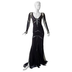 Emilio Pucci Seductive Sexy Sheer Black Dress Gown   NWT