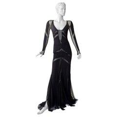 Emilio Pucci Seductive Sexy Sheer Black Dress Gown   NWT