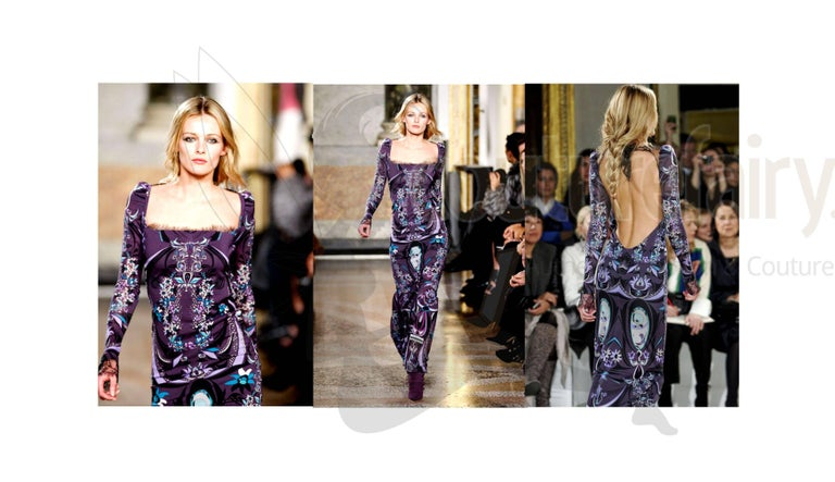 Emilio Pucci Signature Print Evening Maxi Dress Gown For Sale 3