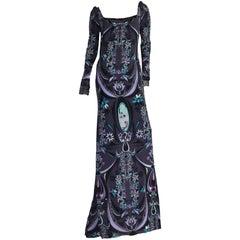 Emilio Pucci Signature Print Evening Maxi Dress Gown