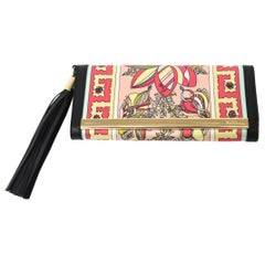 Emilio Pucci Silk and Leather Small Clutch And or Wallet