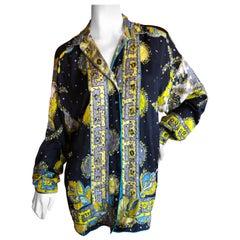 Emilio Pucci Silk Bead and Crystal Embellished Blouse Large Unisex
