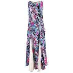 Emilio Pucci Silk blend Pink & Blue Sleeveless Dress - Size US 4
