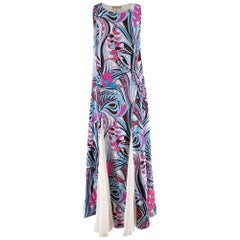 Emilio Pucci Silk blend Pink & Blue Sleeveless Dress US4