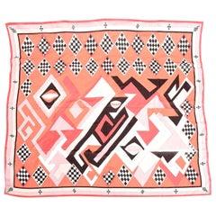 Emilio Pucci Silk Chiffon Geometric Square Scarf Vintage