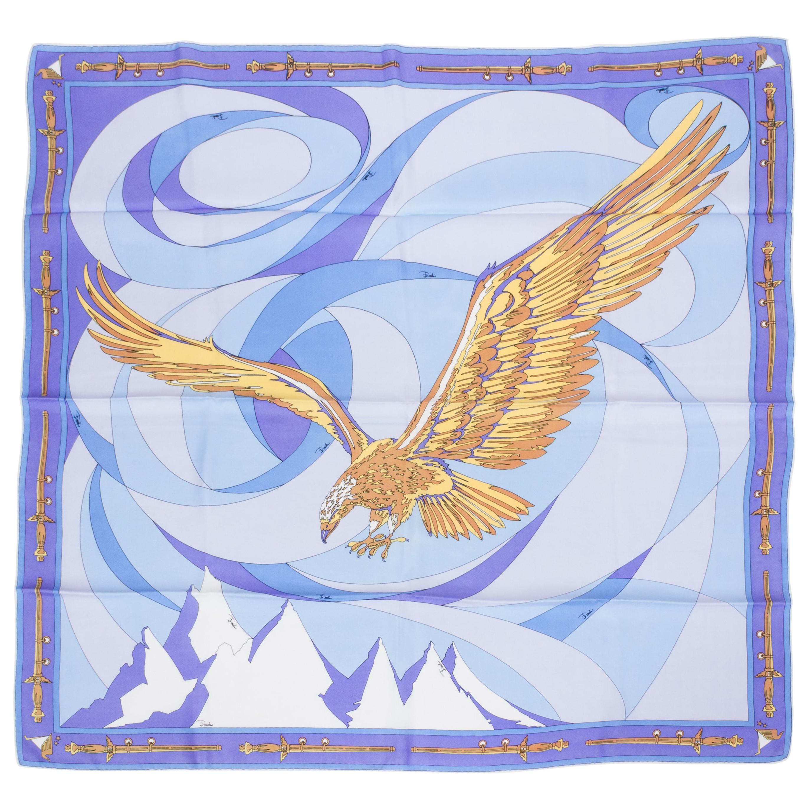 Emilio Pucci Silk Twill Eagle Print Scarf