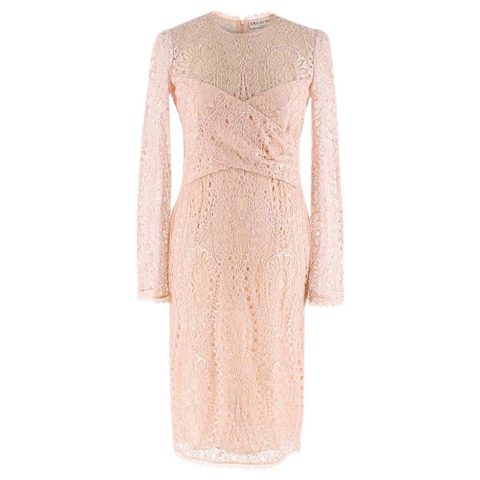 Emilio Pucci Soft Pink Lace Dress - Size US 4