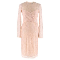 Emilio Pucci Soft Pink Lace Dress XS UK 8