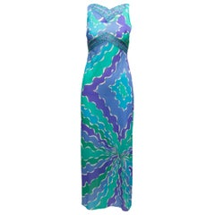 Emilio Pucci Turquoise & Multicolor Printed Nightgown