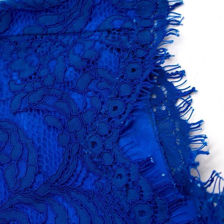 Emilio Pucci V-back blue lace dress US 6 For Sale 1