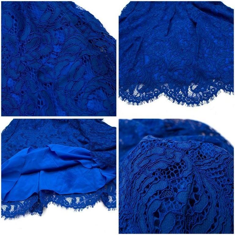Emilio Pucci V-back blue lace dress US 6 For Sale 3