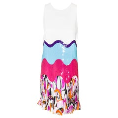 Emilio Pucci White Multi Sequined Dress