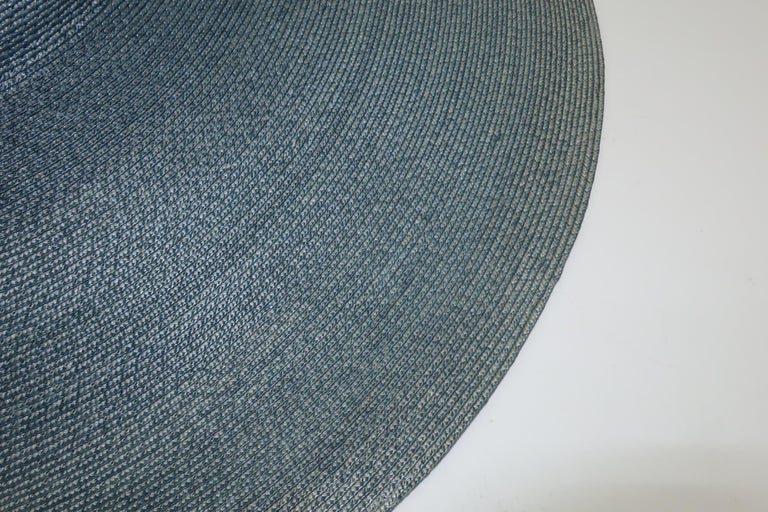Emilio Pucci Wide Brim Blue Gray Straw Hat, 1960's For Sale 5