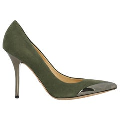 Emilio Pucci Woman Pumps Green Leather IT 36