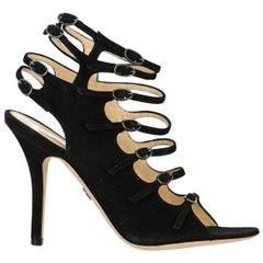 Emilio Pucci Woman Sandals Black Leather IT 36