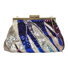 Emilio Pucci Woman Shoulder bag Navy Fabric