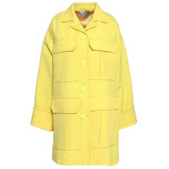 Emilio Pucci yellow matelasse oversized coat