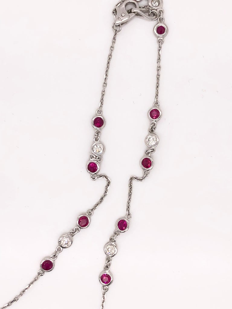 Contemporary Emilio Ruby Diamond by The Yard Necklace For Sale