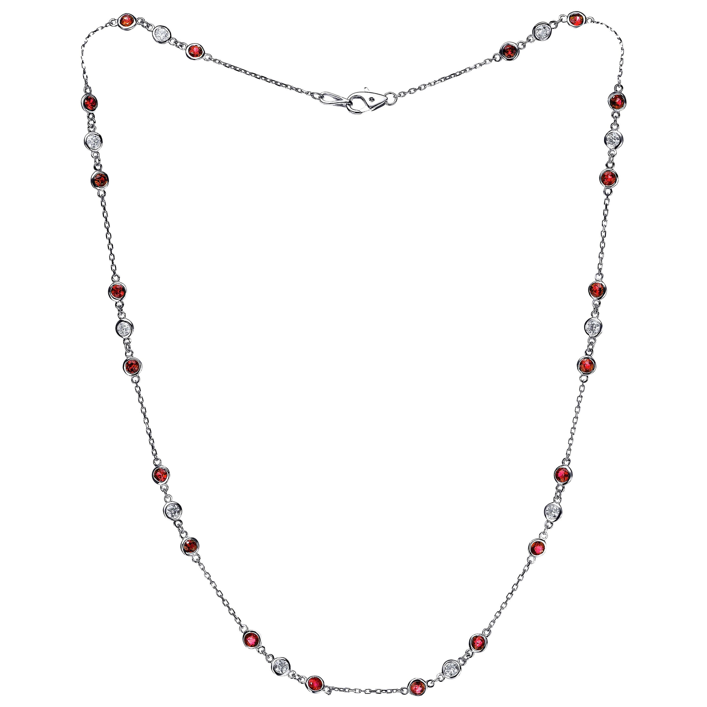 Emilio Ruby Diamond by The Yard Necklace