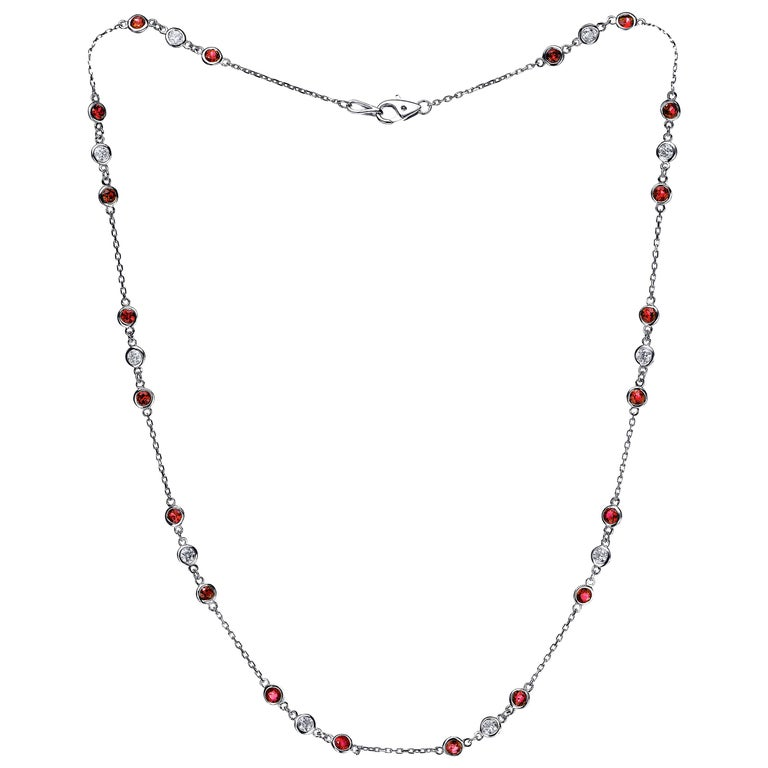 Emilio Ruby Diamond by The Yard Necklace For Sale