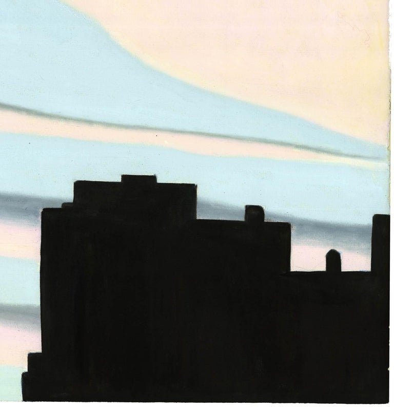 New York Sunset, Pink and Blue. For Sale 1