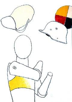 Puppet - Original Screen Print by E. Tadini - 1970 ca