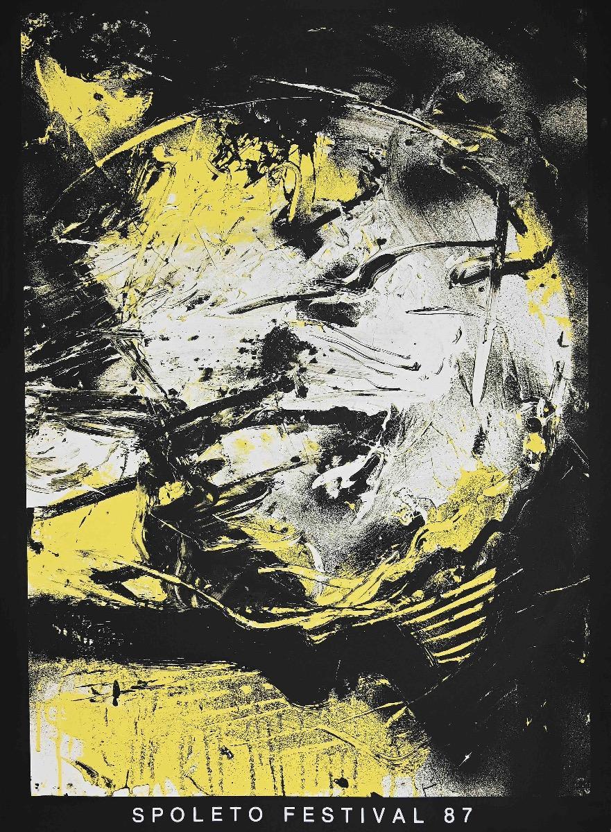 Festival di Spoleto 1987 - Original Lithograph after Emilio Vedova - 1987