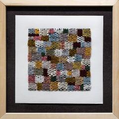"""Untitled 305"", Fiber, Textile Artwork, Grid, Pattern, Abstract, Yarn"