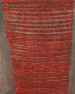 Emily Berger_Red Ghost_2018_oil on wood_30x24 inches_Minimalism