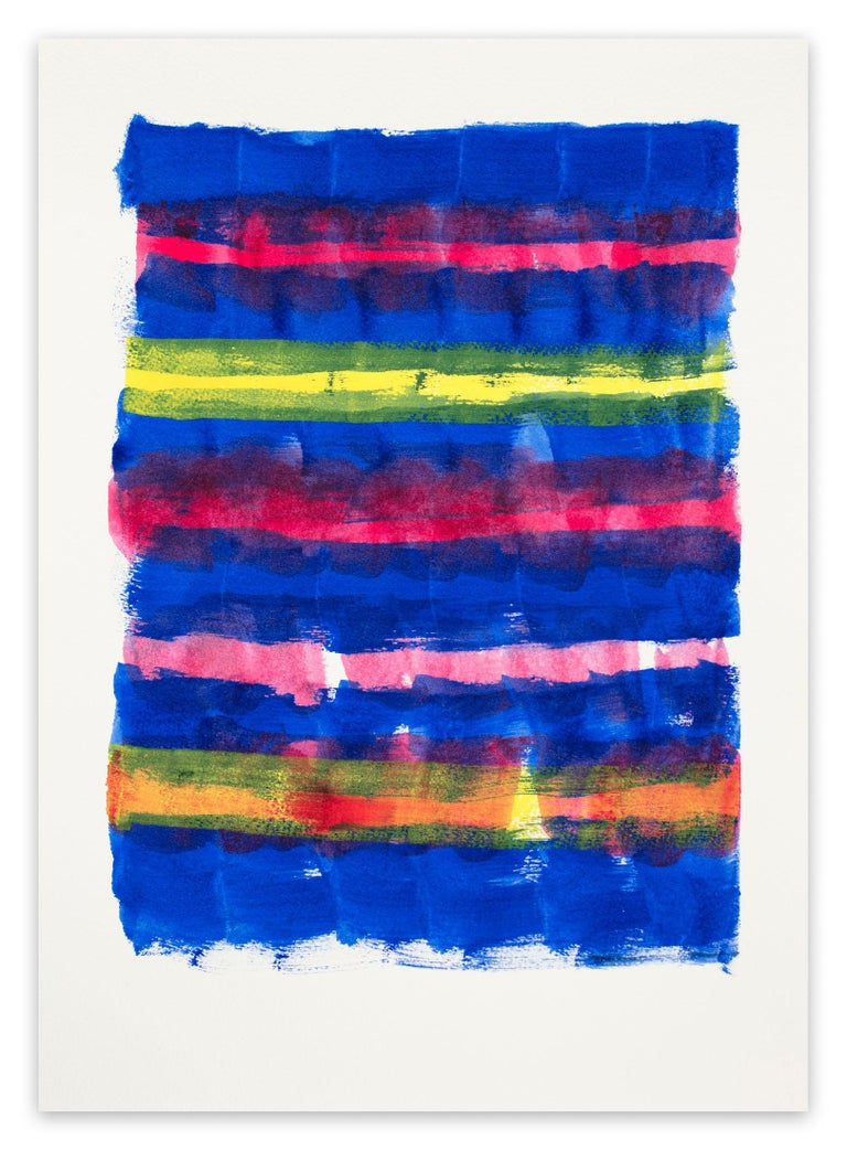 Emily Berger Abstract Painting - Ink #8 (Fraying) (Abstract painting)