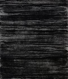 """The Longest Hour"", abstract etching, sugar lift, aquatint print, black, grey."
