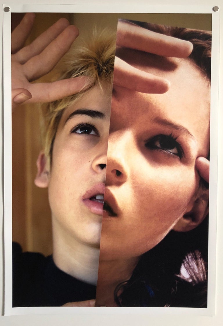 Faces, Vintage Color Photograph Digital Photo Collage Print Asian American For Sale 1
